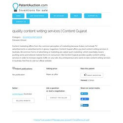 Buy the patent: quality content writing services
