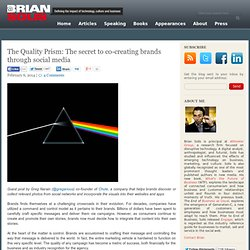 The Quality Prism: The secret to co-creating brands through social media