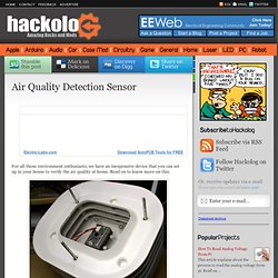 Air Quality Detection Sensor | HACKOLOG - Amazing Hacks and Mods