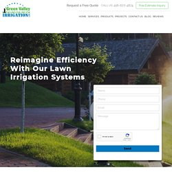 High-quality and durable lawn irrigation systems in Toronto