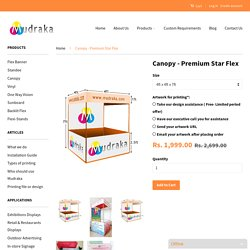 Canopy - High Quality Durable Premium Star Flex with Digital Print – Mudraka