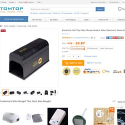 High Quality Electronic Rat Trap Mice Mouse Rodent Killer Electronic Shock EU Plug Adapter from Tomtop.com