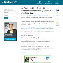 20 Days to a High-Quality, Highly-Engaged Twitter Following (in just 20 minutes a day)