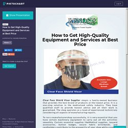 How to Get High-Quality Equipment and Services at Best Price