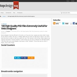 100 High Quality PSD Files Extremely Useful for Web Designers