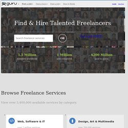 Find Freelancers for Hire. Get Your Project Done.