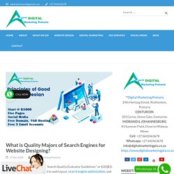 What is Quality Majors of Search Engine Friendly Website Designing?