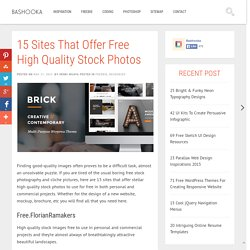 15 Sites That Offer Free High Quality Stock Photos