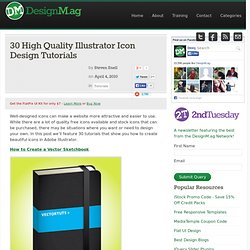 30 High Quality Illustrator Icon Design Tutorials