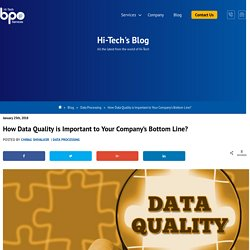 Importance of Data Quality to Increase Company's Bottom Line