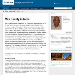 Milk quality in India - Milkproduction.com