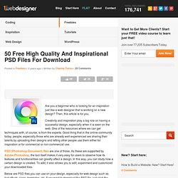 50 Free High Quality and Inspirational PSD Files for Download