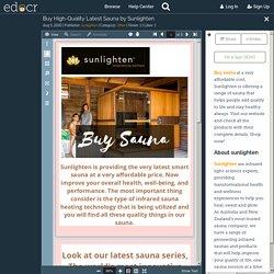 Buy High-Quality Latest Sauna by Sunlighten