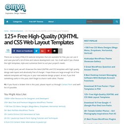 125+ Free High-Quality (X)HTML and CSS Web Layout Templates