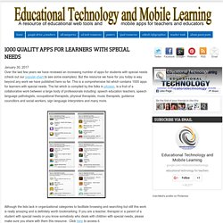1000 Quality Apps for Learners with Special Needs