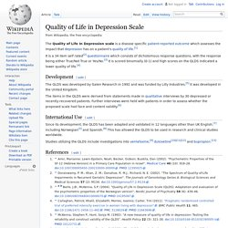 Quality of Life in Depression Scale