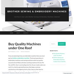 Buy Quality Machines under One Roof