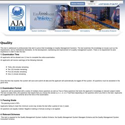 ISO 9001 Quality Management System – Total Quality Management System