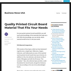 Quality Printed Circuit Board Material That Fits Your Needs