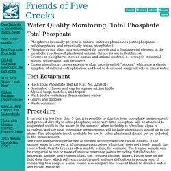 Water Quality Monitoring: Total Phosphate