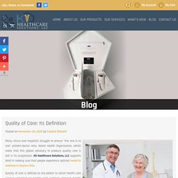 Quality of Care: Its Definition