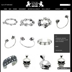 Custom Skull Rings, Pendants, Cuffs & Bracelets