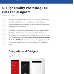 60 High Quality Photoshop PSD Files For Designers | Graphics