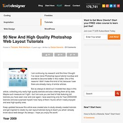 90 New And High Quality Photoshop Web Layout Tutorials