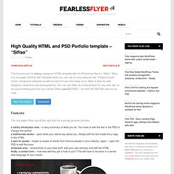 High Quality HTML and PSD Portfolio template - Sifiso | Fearless Flyer Web Design