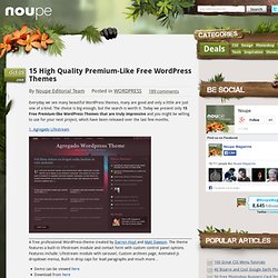 15 High Quality Premium-Like Free WordPress Themes