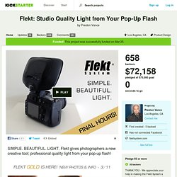 Flekt: Studio Quality Light from Your Pop-Up Flash by Preston Vance