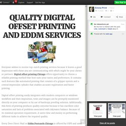 QUALITY DIGITAL OFFSET PRINTING AND EDDM SERVICES