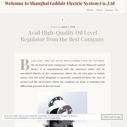 Avail High-Quality Oil Level Regulator from the Best Company