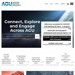 AGU. American Geophysical Union. Earth - Oceans - Atmosphere - S