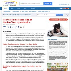 Poor Sleep Quality Results in Resistant Hypertension