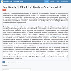 Best Quality Of 2 Oz Hand Sanitizer Available In Bulk