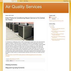 Eden Prairie Air Conditioning Repair Service to Fix Central Air Freeze