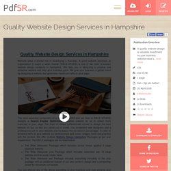 Quality Website Design Services in Hampshire