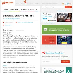 New High-Quality Free Fonts - Smashing Magazine