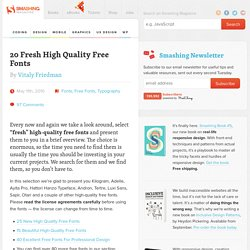 20 Fresh High Quality Free Fonts - Smashing Magazine