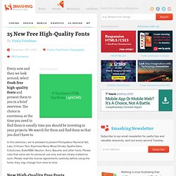 25 New Free High-Quality Fonts - Smashing Magazine - StumbleUpon