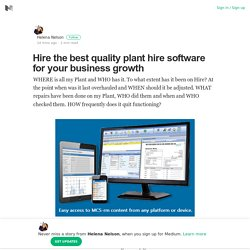Hire the best quality plant hire software for your business growth
