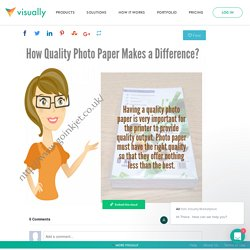 Buy a Quality Photo Paper for a Superior Photograph