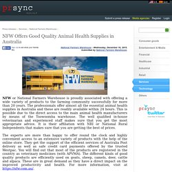 NFW Offers Good Quality Animal Health Supplies in Australia