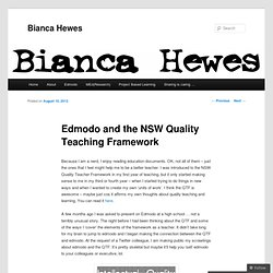 Edmodo and the NSW Quality Teaching Framework