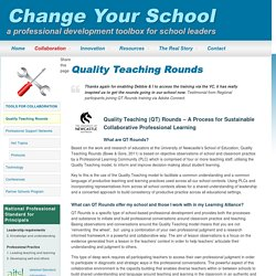 Quality Teaching Rounds - Change Your School