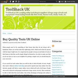 Buy Quality Tools UK Online - ToolShack UK