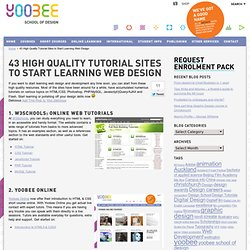 43 High Quality Tutorial Sites to Start Learning Web Design » Yoobee School of Design