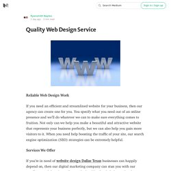 Quality Web Design Service