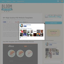 40+ High Quality PSD Website Templates